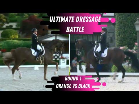 Ultimate Dressage Battle - Round 1 - Passage: Who Did Better? Orange vs Black