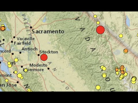 Large Quake with MULTIPLE Aftershocks in Northern California!