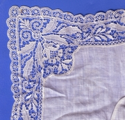 Corner of an old lace hanky