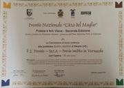 Seconda classificata città del Maglio - diploma