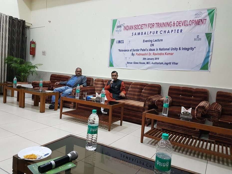 Dr. Ravindra Kumar: Relevance of Sardar Patel's Ideas in National Unity and Integrity, address at Indian Society for Training and Development, Sambalpur, Odisha (India), Jan.30, 2019
