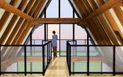 Custom timber frame designs for Arlington Timber Frame