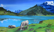 Swiss Landscape with cows