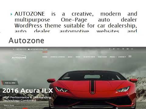 Automotive Car Dealership Business Wordpress Theme  Wp Web Themes