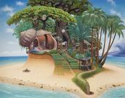 Summer Madeira painting ~ Jacek Yerka