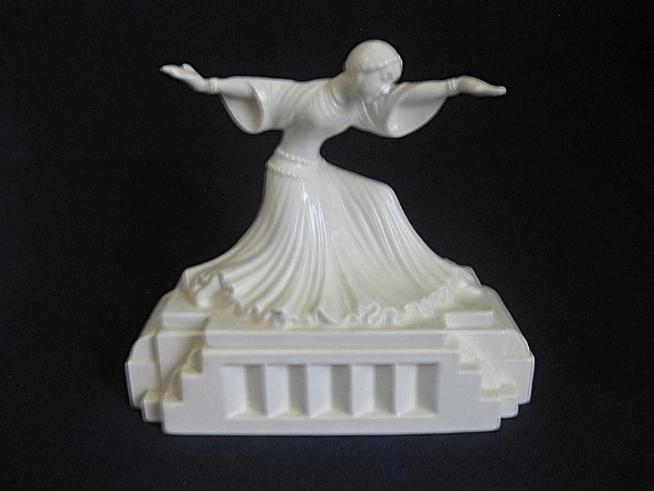 Art Deco Sigma the Tastesetter Porcelain Box With Dancer on Lid