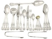 Sterling Silver Canteen of Cutlery for Eighteen Persons - Antique Victorian
