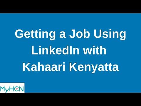 MyHCN Webinar: Getting a Job Using LinkedIn with Kahaari Kenyatta