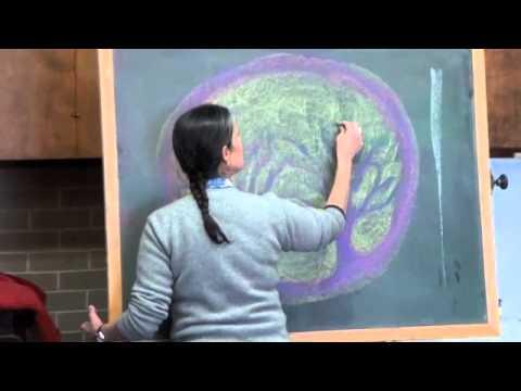 Gail Lescher - Waldorf Chalkboard Drawing Excerpt - Prairie Moon Waldorf School