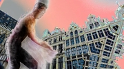The ghost dancer on the Grand Place