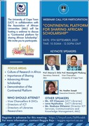 The Continental Platform for sharing African Scholarship