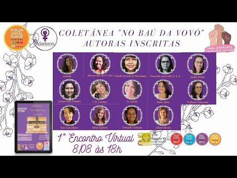 1º Encontro Virtual das Escritoras da Coletânea No Baú da Vovó
