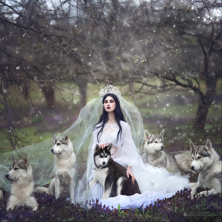 The girlfriend of the wolves