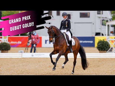 Grand Prix Debut Gold For Semmieke Rothenberger and Flanell At The European Dressage Championships!