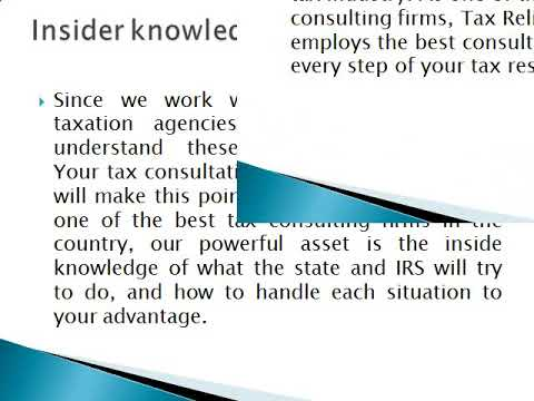 Professional Business and Tax consulting Services - Tax Relief R Us