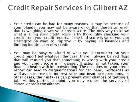 Signs That Tell If You Need to Repair Your Credit in Gilbert AZ
