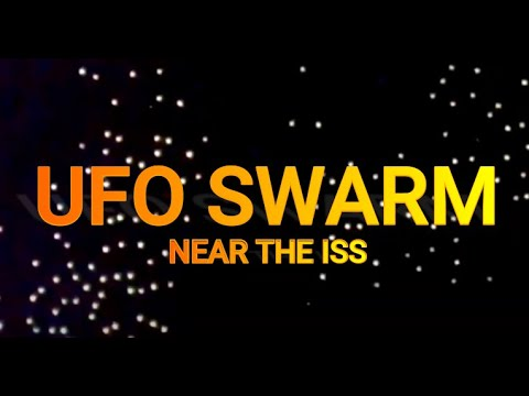 Massive UFO Swarm Passes by the ISS on the NASA Space Cam on 09/14/2021