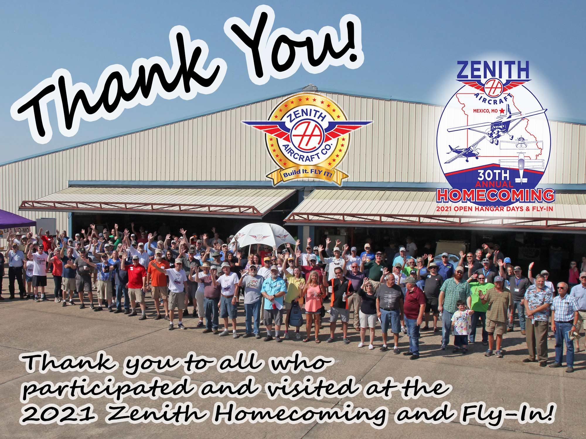 Zenith Homecoming: Thank You!