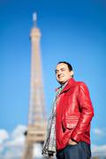 Mohamed Dekkak at Eiffel Tower Paris France