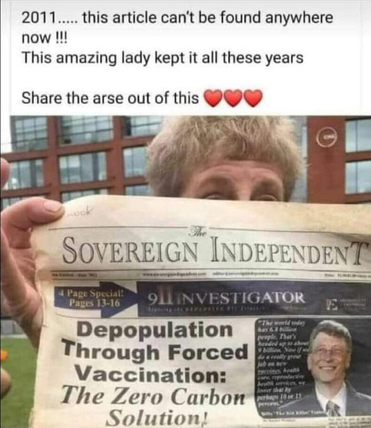 Front page Bill Gates 2011....