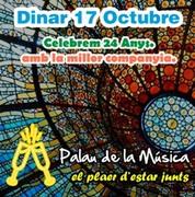 """Dg.17 OCTUBRE """"DINAR 24 ANIVERSARI""""al Palau de la Música"""