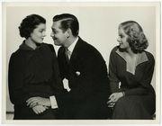 Myrna Loy, Clark Gable, Jean Harlow Wife vs. Secretary Vintage Photograph 1936
