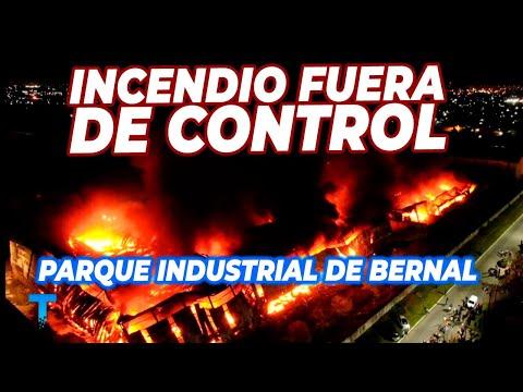 INCENDIO EN EL PARQUE INDUSTRIAL DE BERNAL