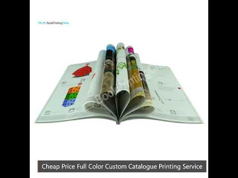 Cheap Price Full Color Custom Catalogue Printing Service