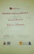 Premio della critica al concorso  artistico letterario Antonio Rosmini 2021