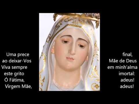 """Ó Virgem do Rosário ADEUS de Fátima """"com Letra"""""""