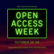 Open Access Week at Kennesaw State University