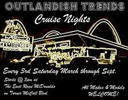 OUTLANDISH TRENDS GA Saturday Night Cruise-in