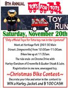 Toys for Tots Toy Run -Simpsonville, SC