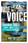 RIDE FOR A VOICE OCT. 23rd TO PROTECT CHILDREN FROM CHILD SEXUAL ABUSE AND HELP SURVIVORS HEAL! -Roswell, GA
