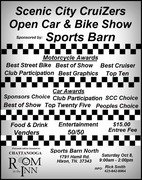 Scenic City CruiZers Open Car & Bike Show -Hixson, TN