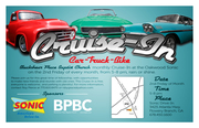 Cruise In Sept. 13, Sonic Drive In at Flowery Branch/Oakwood