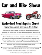 Rutherford Road Baptist Church 1st annual Car and Bike Show, Greenville SC