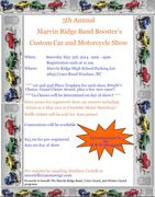 5TH ANNUAL MARVIN RIDGE BAND BOOSTER'S CUSTOM CAR AND MOTORCYCLE SHOW