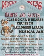 Decatur HAINTS & SAINTS Classic Car & Hearse Cruise-In and Halloween Parade