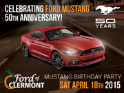Mustang 50th. Birthday Party Car Show