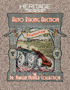 Auto Racing Sports Collectibles Catalog Auction -Dallas, TX