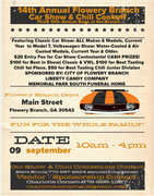 14th Annual Flowery Branch Car Show and Chili Cook Off Plus the 10th Annual Bugs at the Branch VW Show