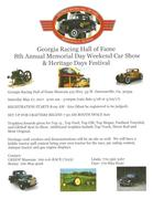 Georgia Racing Hall of Fame 8th Memorial Day Car Show -Dawsonville, GA
