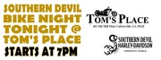 Tom's Place in Cartersville, GA for Bike Night
