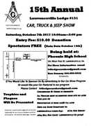 15th Annual Lawrenceville Lodge#131 Car, Truck & Jeep Show. Lawrenceville, GA