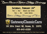 Gateway Classic Cars of Tampa Open House and Ribbon Cutting Ruskin, FL
