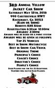 3rd Annual Yellow Jacket Car Show