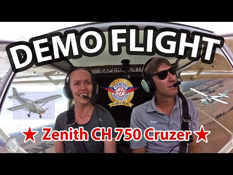 Flying demonstration: CH 750 Cruzer light sport airplane at the Zenith Aircraft hands-on workshop