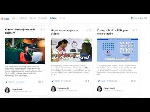 Cuboz - Rede social de Educação - Cadastre-se gratuitamente para acessar Redes e Cursos