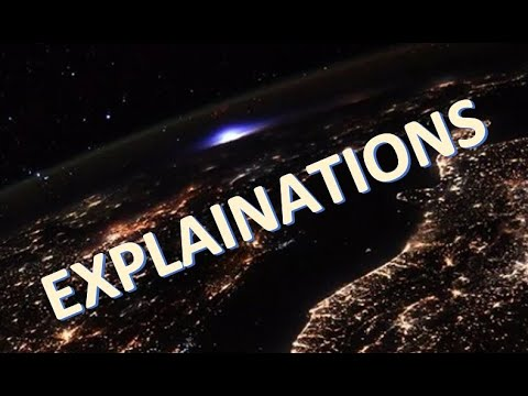 Earthquakes and Blue Luminous Lights in the Skies Explained
